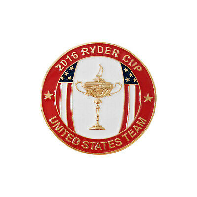 2016 Ryder Cup Hazeltine Lapel Players Badge New Caddy Staff Pin Limited Edition