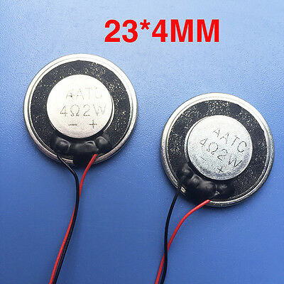 NEW AATC 4Ω 2W Speaker with cable plug Dust and waterproof speakers 28 * 4mm