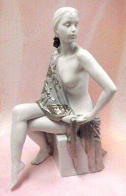 Nude With Shawl (Re-Deco) Woman Female Porcelain Figurine By Lladro 2013  #8673