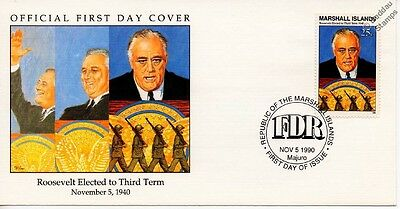 1940 FDR President Roosevelt Elected to Third Term WWII Stamp FDC