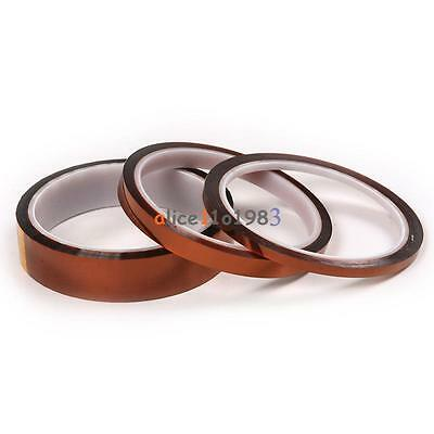 5/10/20/30/50mm x 33M High Temperature Heat Resistant Insulation Tape Polyimide