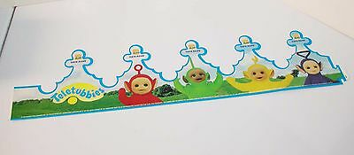 1999 Teletubbies Burger King Character Taste Rules Heavy Paper Wearable Crown