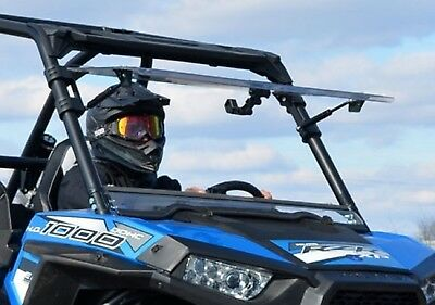 Super ATV Polaris RZR 900 / 1000 / Turbo Scratch Resistant Flip Up Windshield