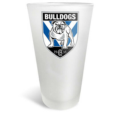 Canterbury Bulldogs NRL FROSTED Conical Glass 450ml Man Cave Bar Fathers Gift