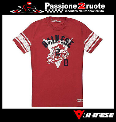 T-shirt Camiseta Dainese D-72 rosso rojo