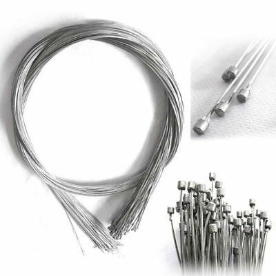 2X Stainless 2.1m MTB Bike Brake Cable Cycling Shift Gear Speed Inner Wire line
