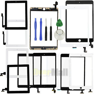 Touch Screen Glass Digitizer Assembly Replacement fr iPad 2 3 4 Air 1 2 Mini 2 3