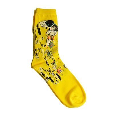 Men Novelty World Famous Painting Art Collection Socks Gustav Klimt The Kiss