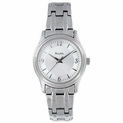 NEW Bulova 96L005 Women's Silver Tone Stainless Steel Analog Watch ~ GREAT GIFT