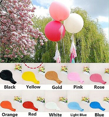 """1~5pcs 36"""" Giant Round Latex Balloons Wedding Decoration Birthday Party 14 Color"""