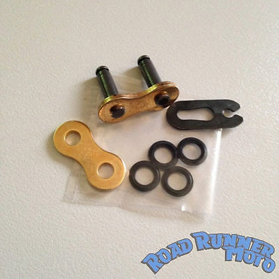 DID 520 VX2  CHAIN JOINER CLIP LINK gold