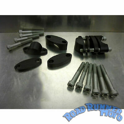 """CPR universal handlebar risers (15mm - 35mm) clamps for 7/8"""" 22mm bars HBCK10"""