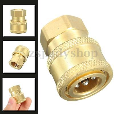 "1/4"" Quick Release To BSP 1/4"" Female Pressure Washer Hose Outlet Adaptor Nozzle"