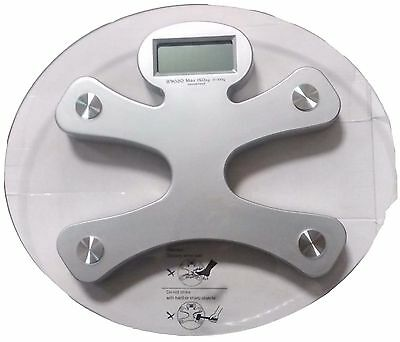 150KG Digital Electronic LCD Bathroom Weighing Scales Glass Weight Ellipse Man
