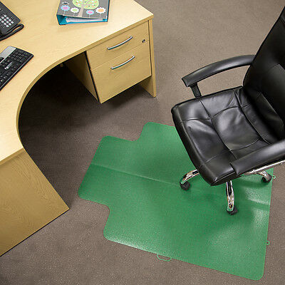 "ES Robbins Office Carpet Protector Chair Floor Mat - Lime - 36"" x 48"""