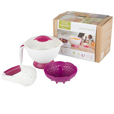 Infantino Fresh Squeezed Steam & Smush Baby Food Steamer Masher Maker
