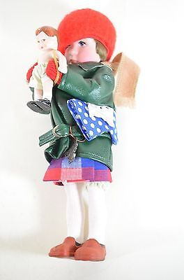 Norman Rockwell MIMI Porcelain Character Doll Rumbleseat Handcrafted Germany NEW