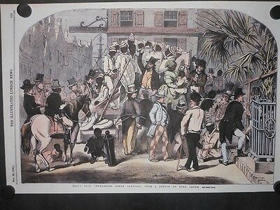 Slave Sale Charleston South Carolina Colored Print