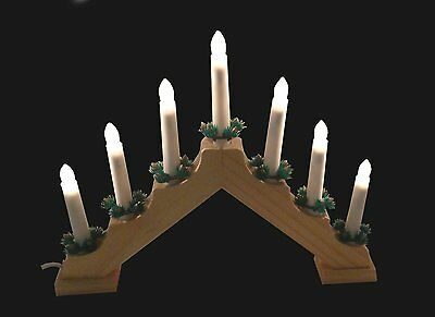 Christmas Candle Bridge 7 Candles Candlebridge Wooden Lights Decoration Arch