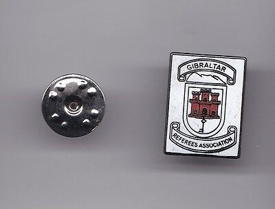 Gibraltar Referees Association - lapel badge butterfly fitting