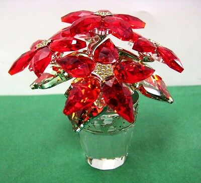 Large Poinsettia Holiday Crystal Christmas 2012 Swarovski #1139997