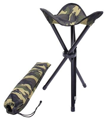 Army Military Outdoor Collapsible Stool Carry Strap Stuhl Klappstuhl camouflage