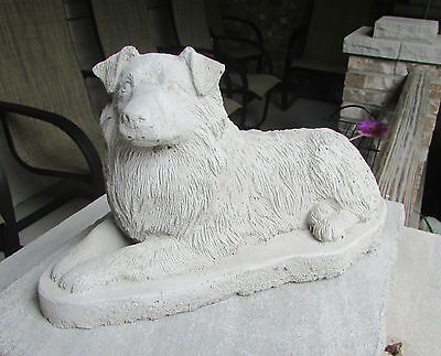 Concrete Australian Shepherd Statue Or Use As A Monument