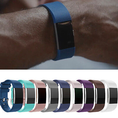 Multicolour Watch Style Wrist Band Strap L/S For Fitbit Charge 2 Replacement