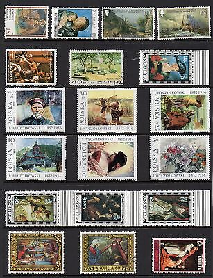 Art  PAINTINGS Thematic STAMP Collection  Mint Used REF:TS11