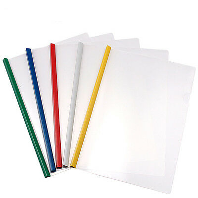5Pcs A4 Size Office Rod Pumping Folder Storage Files Documents Paper Clip Supply