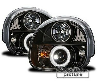 Pair of of Headlights with rings Angel Eyes Renault Twingo