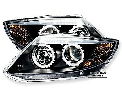 Pair of of Headlights with 2 rings Angel Eyes BMW Z4