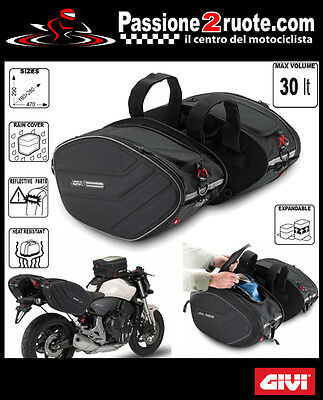 bags suitcases side soft motorcycle scooter GIVI ea101 Saddle bags biking 30 LT