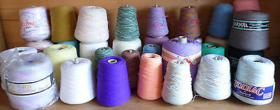 4 Ply Machine Knitting Wool Cones - Various Sizes & Colours - Please Choose
