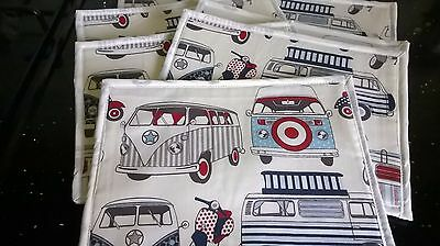 Handmade Placemats Vw Campervans Nautical Designer Fabric 100% Cotton