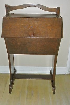 Mission Oak Double Sided Sewing Stand Solid Oak Circa 1910/Nice
