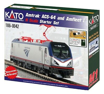 Kato N AMTRAK ACS-64 & AMFLEET SET KAT1060042