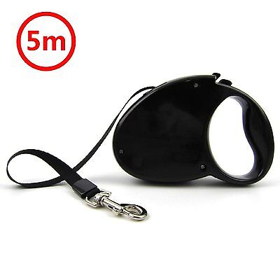 Pet Dog Puppy Automatic Retractable Lockable Traction Rope Walking Lead Leash 5m