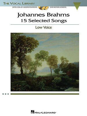 Johannes Brahms 15 Selected Songs Low Voice Vocal Sheet Music Book CD Pack NEW