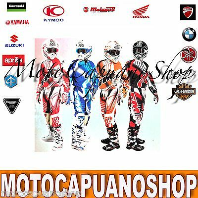 Pantalone Taglia 52 Fm Racing Mx X20 Blu Cross Enduro Quad