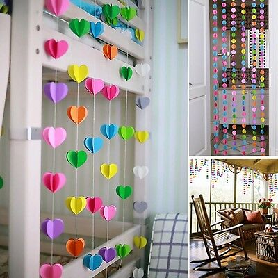1Pc Colorful 3D Hanging Paper Garland Wedding Party Birthday Baby Banner Decor