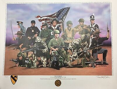 "US Army ""This We'll Defend"" Artist Signed & Numbered Print"