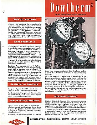 MRO Brochure - Dow Chemical - Dowtherm - Vapor Phase Heat Transfer (MR52)