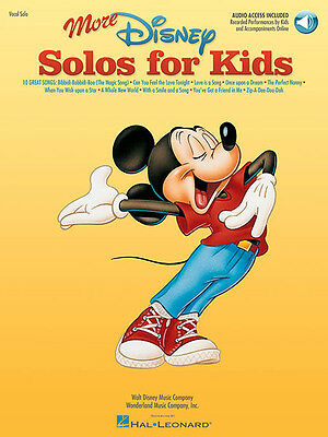 More Disney Solos for Kids Vocal Piano Sheet Music Songs Book & Online Audio NEW