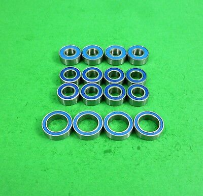 Blue sealed ball bearing set for Tamiya TT02 car- drift or race models
