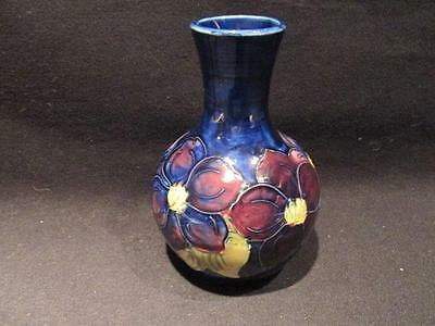 Moorcroft Vintage Beautiful Clematis Signed Vase Appointment to Queen Mary 5.25""