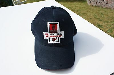 Ball Cap Hat - Smith Services Red Baron Group Oil Rig Fokker Triplane (H1459)