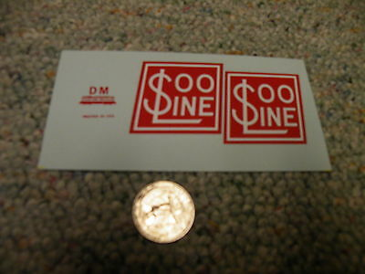 Herald King decals G Gauge Soo Line logos 3' scale    XX121