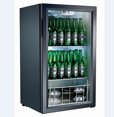 98 Litre Commercial Bench Top Display Drink Fridge NEW