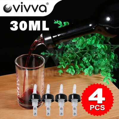 4X Liquor Bottle 30ml Shot Pourer Dispenser Spirit Nip Measure Red Wine